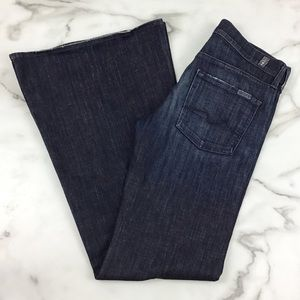 7 For All Mankind Dark Super Flare Jeans